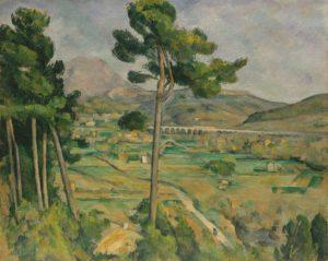 Abstract Expressionisme kunst Paul Cezanne Mont Saint Victoire kunstwerk 1
