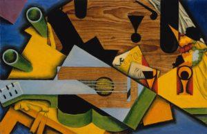 Kubisme kunst - Juan Gris - Still life with a guitar, 1913 - Artleader.com