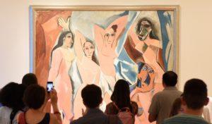 Kubisme kunst - Pablo Picasso - Demoiselles D'Avignon - Artleader.com
