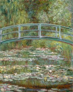 Impressionisme kunst - Claude Monet – Bridge over a Pond of Water Lilies - Artelader.com